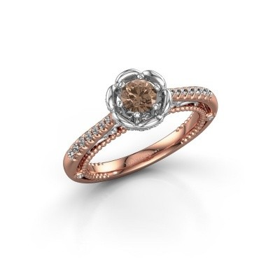 Picture of Engagement ring Abbey 585 rose gold brown diamond 0.582 crt