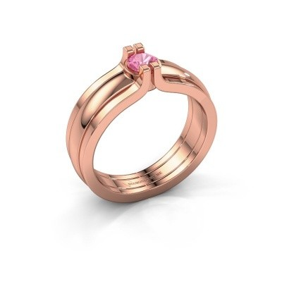 Picture of Ring Jade 585 rose gold pink sapphire 4 mm