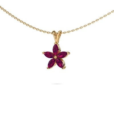Picture of Necklace Sylvana 375 gold rhodolite 5x2.5 mm
