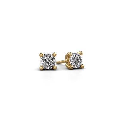 Picture of Stud earrings Sam 375 gold diamond 0.40 crt