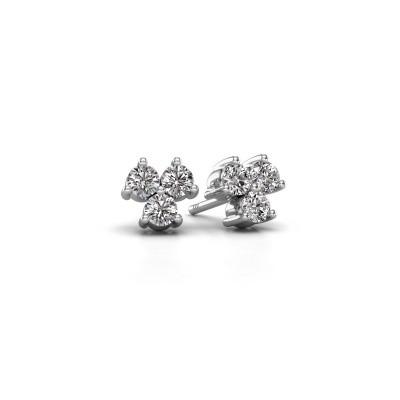 Foto van Oorstekers Shirlee 585 witgoud diamant 0.60 crt