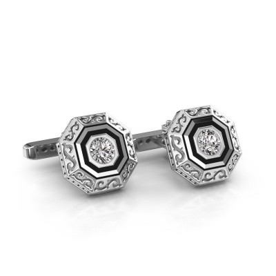 Cufflinks Dion 375 white gold diamond 1.00 crt