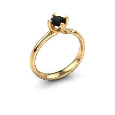 Verlobungsring Livia 585 Gold Schwarz Diamant 0.60 crt