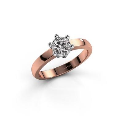 Foto van Verlovingsring Luna 1 585 rosé goud diamant 0.50 crt