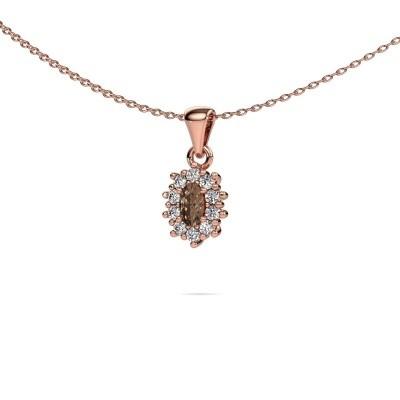 Foto van Ketting Leesa 375 rosé goud bruine diamant 1.60 crt