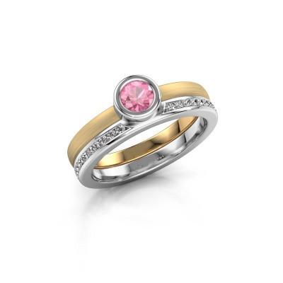 Bild von Ring Cara 585 Gold Pink Saphir 4 mm