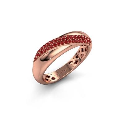 Foto van Ring Rosie 585 rosé goud robijn 0.9 mm