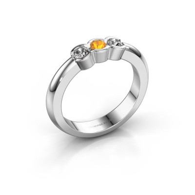 Picture of Engagement ring Lotte 3 925 silver citrin 3 mm