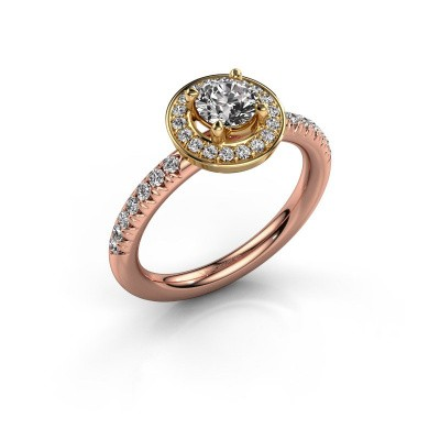 Foto van Ring Christine 585 rosé goud diamant 0.845 crt