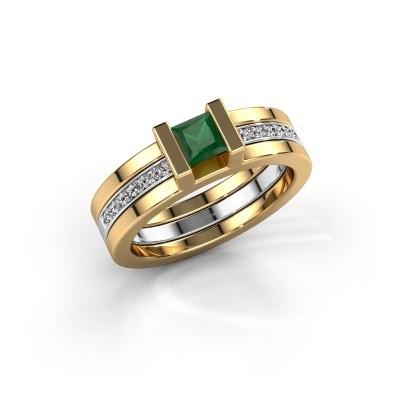 Foto van Ring Desire 585 goud smaragd 4 mm