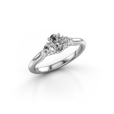 Foto van Verlovingsring Laurian OVL 950 platina diamant 0.62 crt