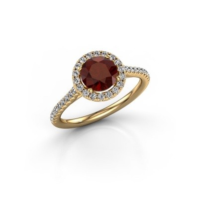 Picture of Engagement ring Marty 2 375 gold garnet 6.5 mm