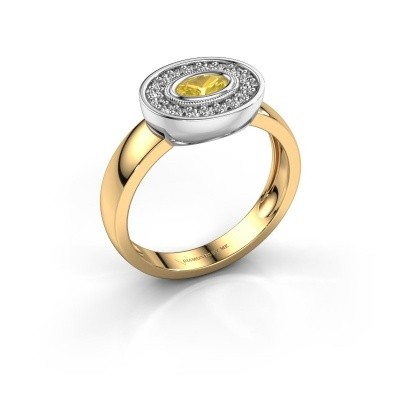 Ring Azra 585 Gold Gelb Saphir 5x3 mm