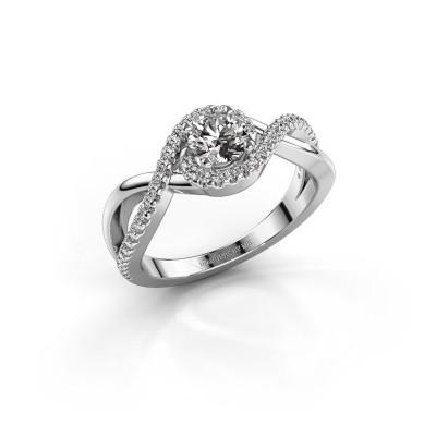 Foto van Verlovingsring Melody 585 witgoud diamant 0.50 crt