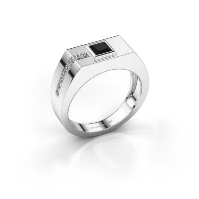 Foto van Heren ring Robertus 1 375 witgoud zwarte diamant 0.576 crt