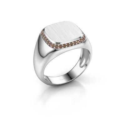 Heren ring Jesse 1 375 witgoud bruine diamant 0.255 crt