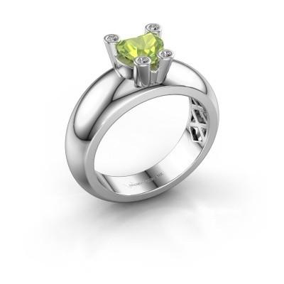 Ring Cornelia Heart 585 Weißgold Peridot 6 mm