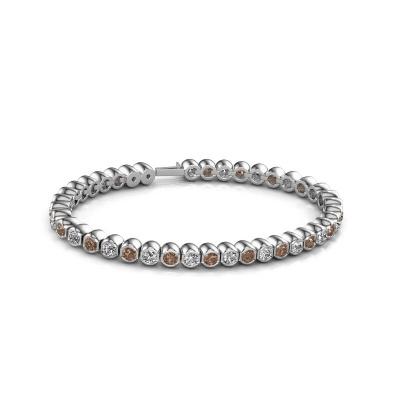 Foto van Tennisarmband Bianca 3.5 mm 585 witgoud bruine diamant 7.200 crt