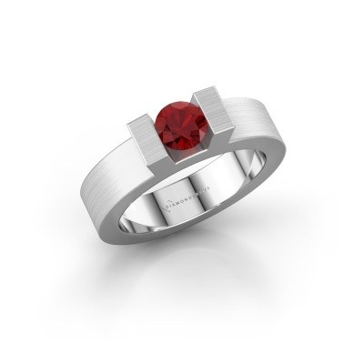 Picture of Ring Leena 1 585 white gold ruby 5 mm