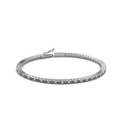Foto van Tennisarmband Karin 2 mm 585 witgoud bruine diamant 2.16 crt