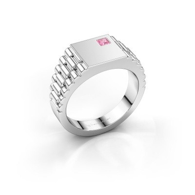 Picture of Rolex style ring Pelle 585 white gold pink sapphire 3 mm
