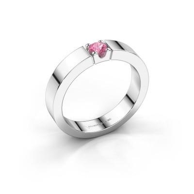 Foto van Belofte ring Dana 1 585 witgoud roze saffier 3.7 mm