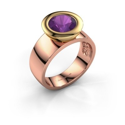 Ring Maxime 585 rosé goud amethist 8 mm