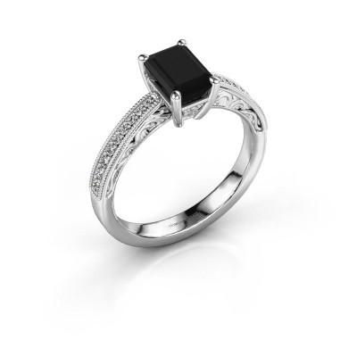 Bague de fiançailles Shonta EME 950 platine diamant noir 1.51 crt