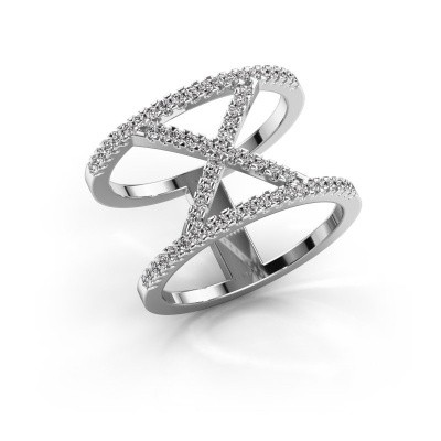 Ring Sharri 2 925 zilver diamant 0.422 crt