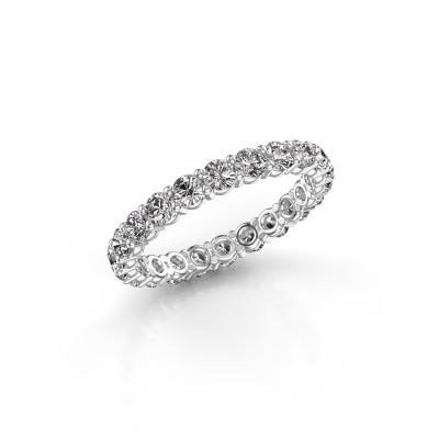 Foto van Aanschuifring Heddy rnd 2.7 585 witgoud diamant 1.76 crt