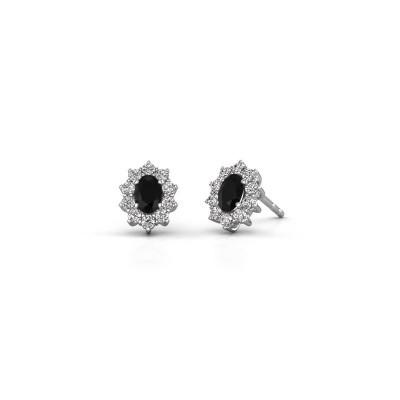 Ohrringe Leesa 925 Silber Schwarz Diamant 1.800 crt