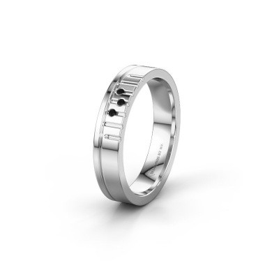 Friendship ring WH0332L14X 925 silver black diamond ±0.16x0.06 in