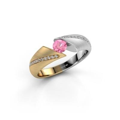 Verlobungsring Hojalien 2 585 Gold Pink Saphir 4.2 mm