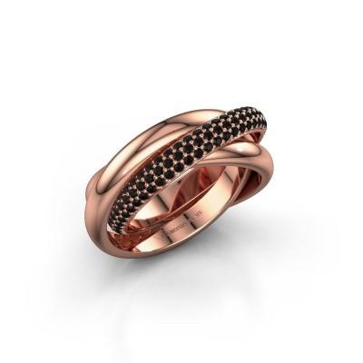 Ring Helena 2 585 rosé goud zwarte diamant 1.062 crt