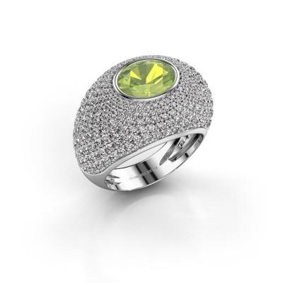 Foto van Ring Armida 925 zilver peridoot 9x7 mm