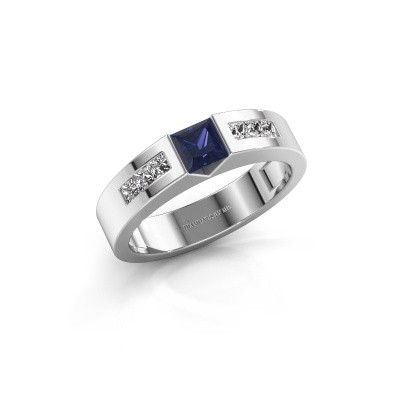 Foto van Verlovings ring Arlena 2 585 witgoud saffier 4 mm