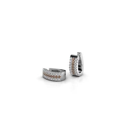 Foto van Creolen Nena 950 platina bruine diamant 0.36 crt