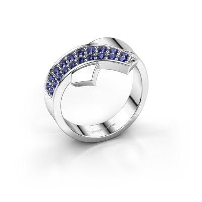Foto van Ring Ivette 925 zilver saffier 1.3 mm