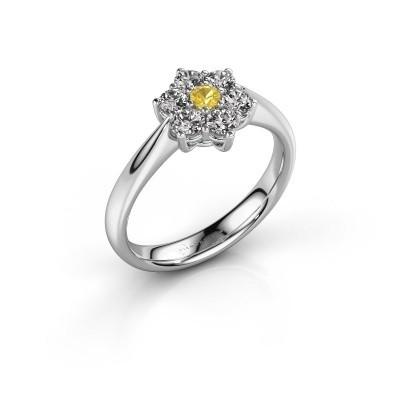 Promise ring Chantal 1 925 zilver gele saffier 2.7 mm