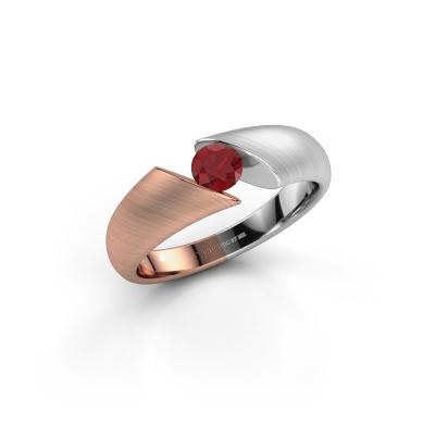 Foto van Ring Hojalien 1 585 rosé goud robijn 4.2 mm