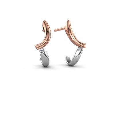 Oorbellen Tish 585 rosé goud diamant 0.03 crt