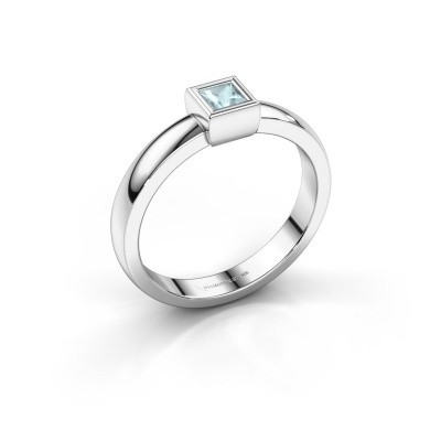 Picture of Ring Aimee 1 585 white gold aquamarine 3 mm