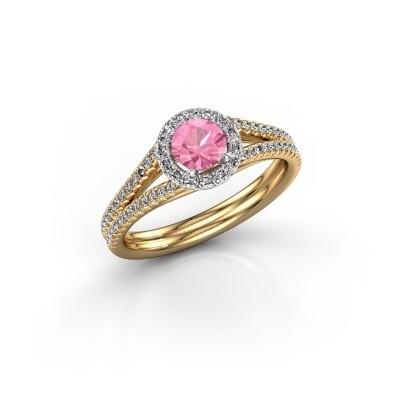Foto van Verlovingsring Verla rnd 2 585 goud roze saffier 4.7 mm