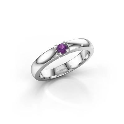 Engagement ring Rianne 1 950 platinum amethyst 3 mm