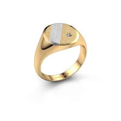 Zegelring Wesley 3 585 goud lab-grown diamant 0.03 crt