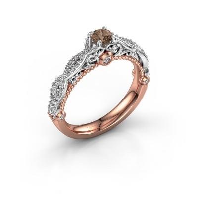 Bild von Verlobungsring Chantelle 585 Roségold Braun Diamant 0.606 crt