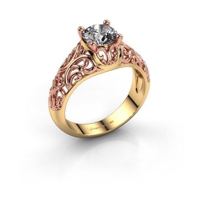 Foto van Ring Mirte 585 goud diamant 1.00 crt