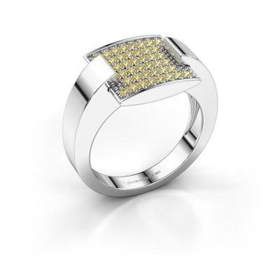 Ring Silke 950 Platin Gelb Saphir 1.2 mm
