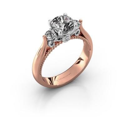 Verlovingsring Tiffani 585 rosé goud diamant 1.24 crt