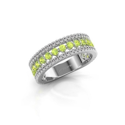 Engagement ring Elizbeth 1 925 silver peridot 2 mm